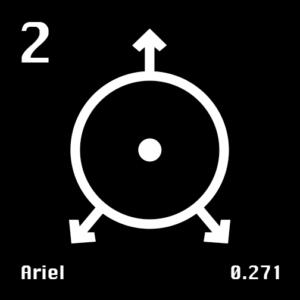Astronomical Symbol of Uranus' moon Ariel
