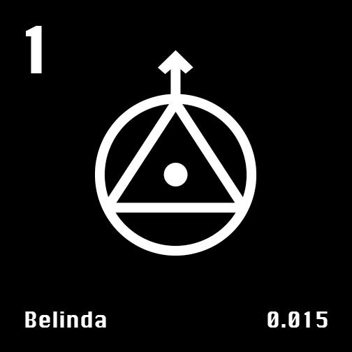 Astronomical Symbol of Uranus' moon Belinda