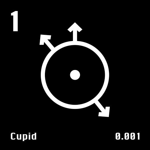 Astronomical Symbol of Uranus' moon Cupid