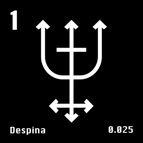 Astronomical Symbol of Neptune's moon Despina