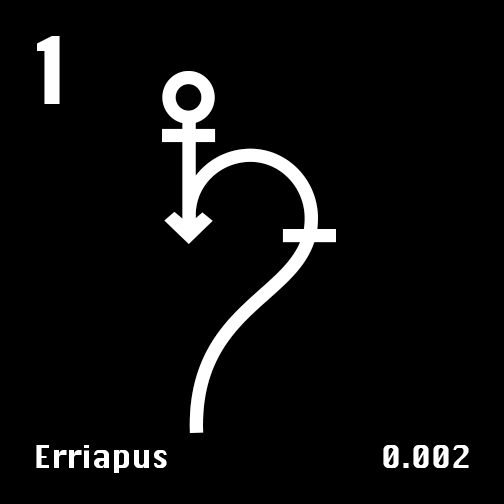 Astronomical Symbol of Saturn's moon Erriapus