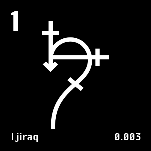 Astronomical Symbol of Saturn's moon Ijiraq