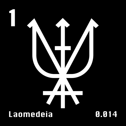 Astronomical Symbol of Neptune's moon Laomedeia