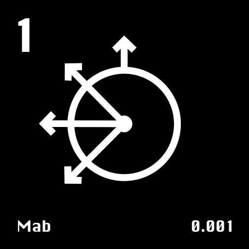 Astronomical Symbol of Uranus' moon Mab