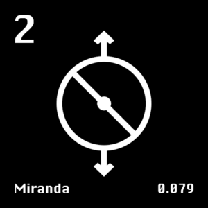 Astronomical Symbol of Uranus' moon Miranda