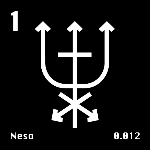 Astronomical Symbol of Neptune's moon Neso
