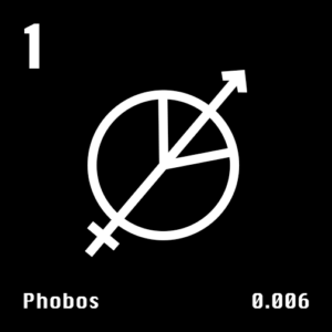 Astronomical Symbol of Mars' moon Phobos