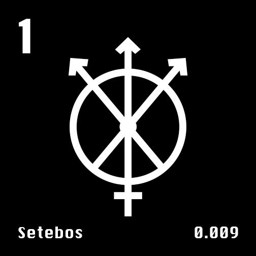 Astronomical Symbol of Uranus' moon Setebos