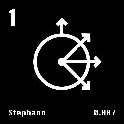 Astronomical Symbol of Uranus' moon Stephano