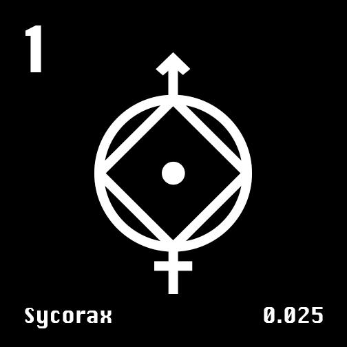 Astronomical Symbol of Uranus' moon Sycorax