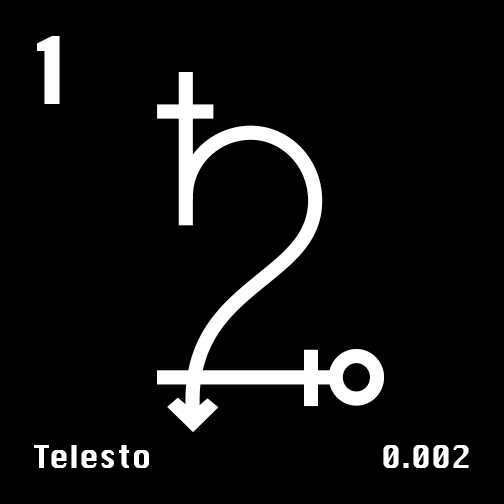 Astronomical Symbol of Saturn's moon Telesto