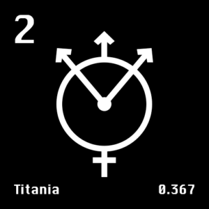 Astronomical Symbol of Uranus' moon Titania