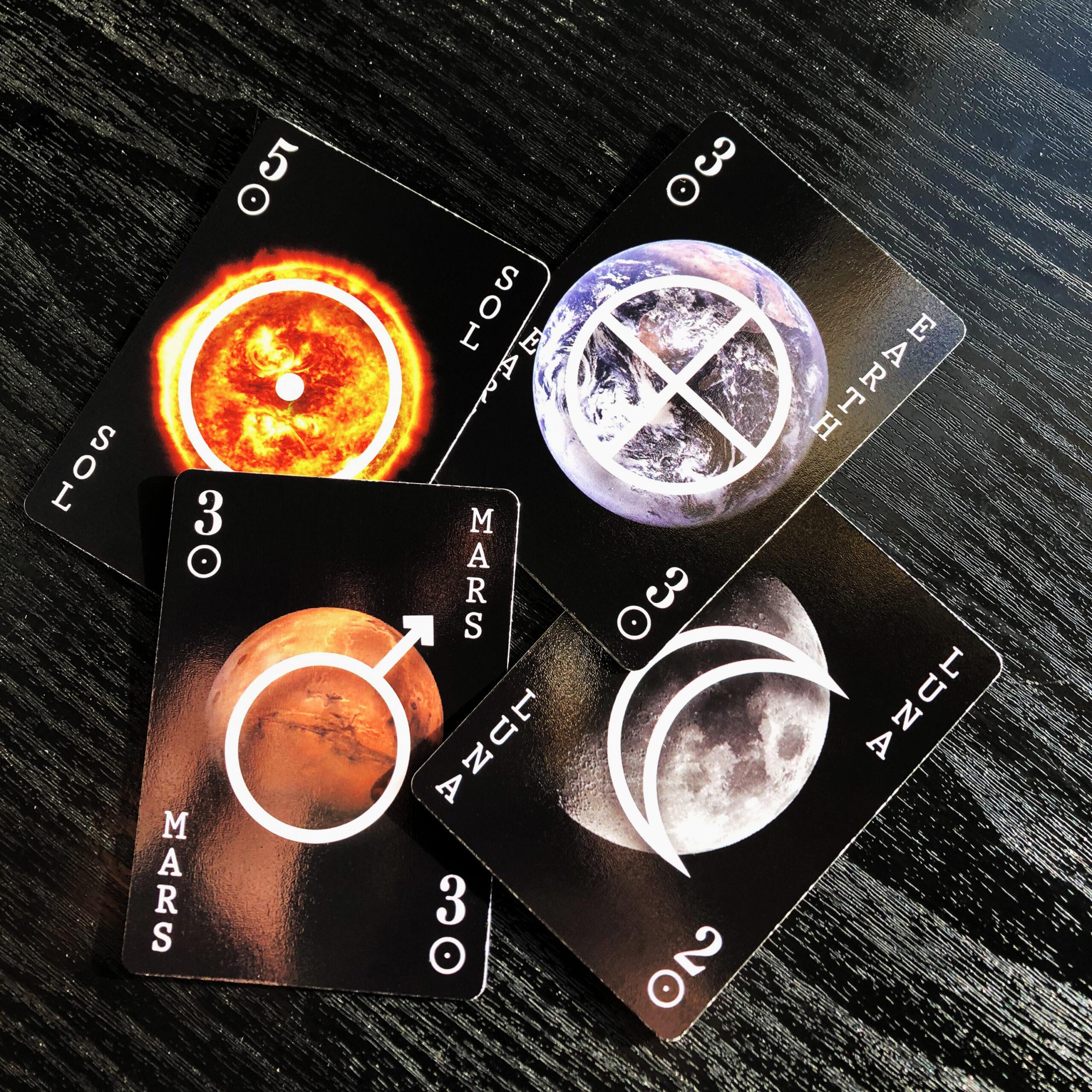 earth moon sun mars game cards